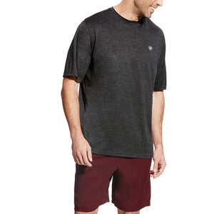 'Ariat' Men's Charger Basic T-Shirt - Charcoal