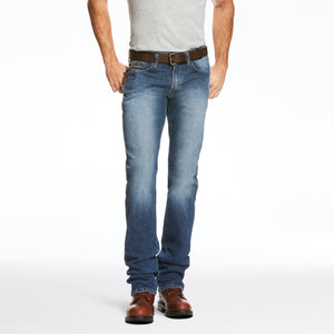'Ariat' Men's Rebar M3 Loose DuraStretch Straight Leg - Blue Haze