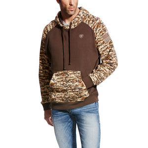 'Ariat' Men's Patriot Hoodie - Desert Camo