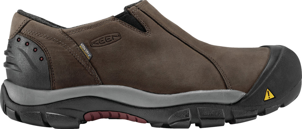 'Keen' Men's Brixen Low 200GR WP Slip On - Slate Black / Madder Brown