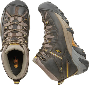 'Keen' Men's Targhee II Mid WP - Black Olive Green / Yellow