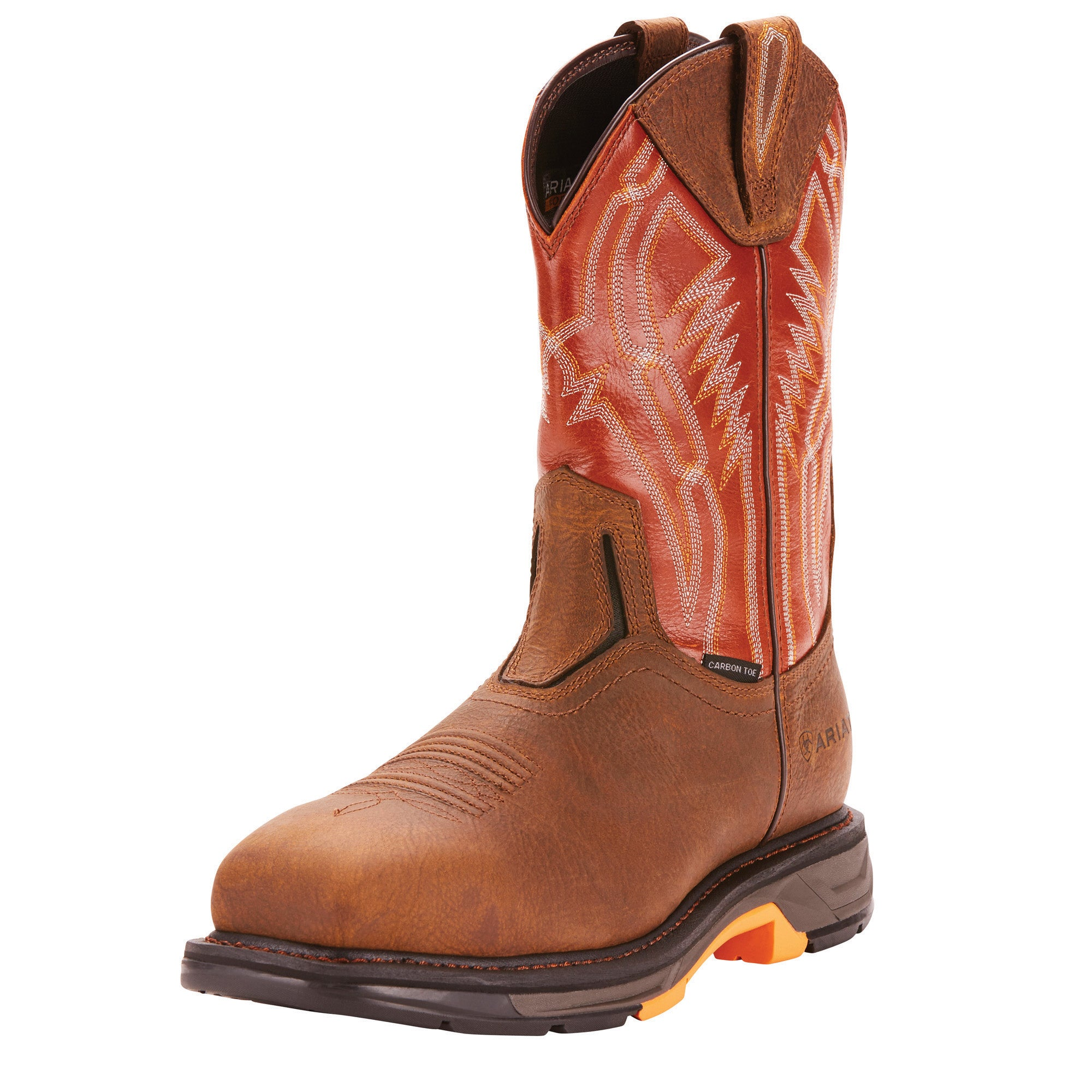 Workhog XT Dare Carbon Toe Cowboy Boot - Rye Brown / Brick