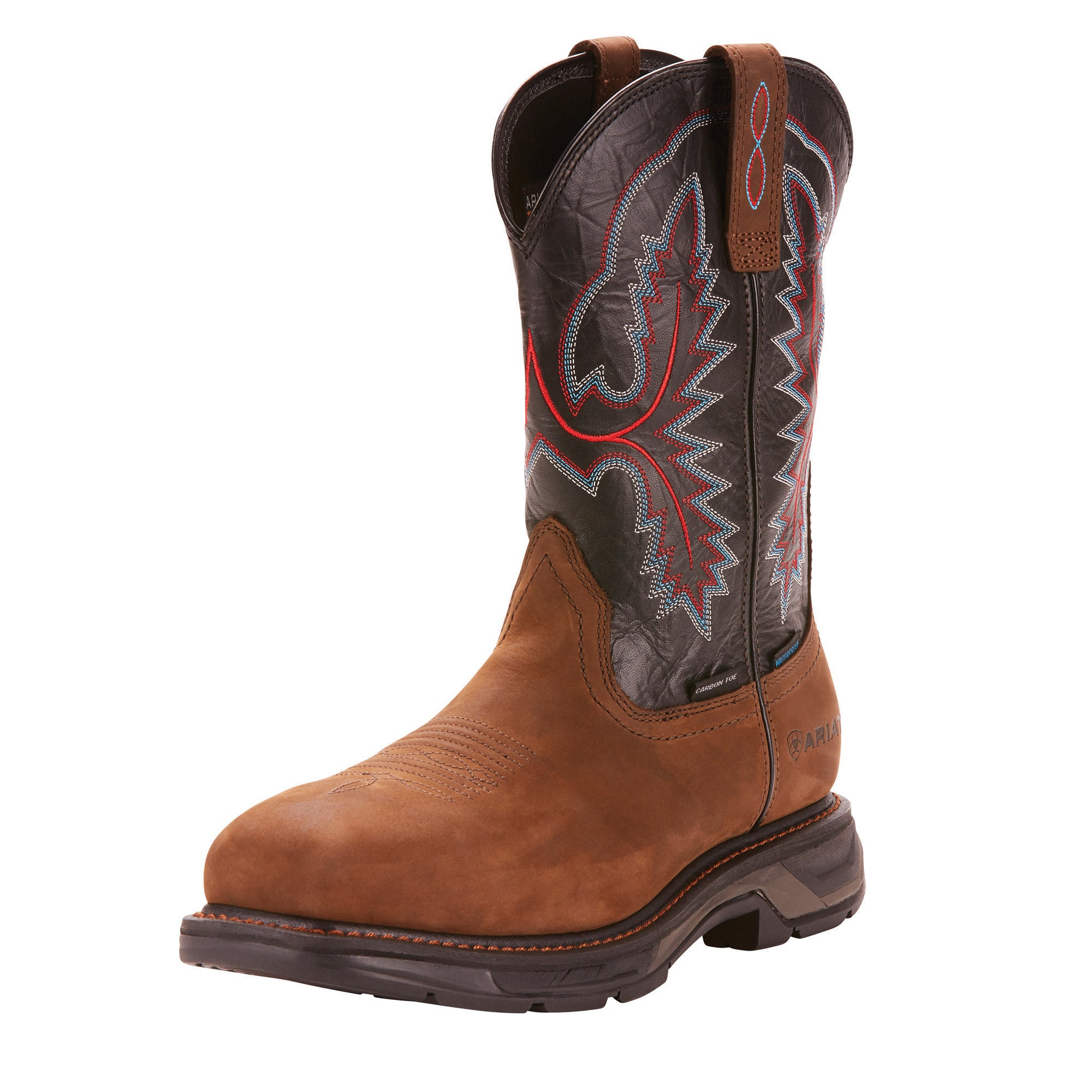 'Ariat' 10024968 - Workhog XT Waterproof Carbon Toe - Oily Distressed Brown / Black