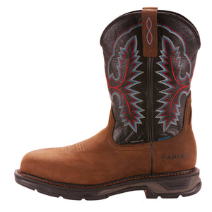 'Ariat' Workhog XT WP Carbon Toe - Oily Distressed Brown / Black