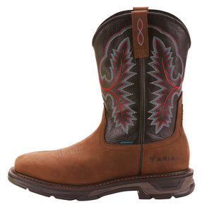 "'Ariat' Men's 11"" Workhog XT  EH WP Soft Toe - Oily Distressed Brown / Black"