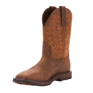 "'Ariat' Men's 10"" Groundbreaker EH WP Soft Toe - Brown"