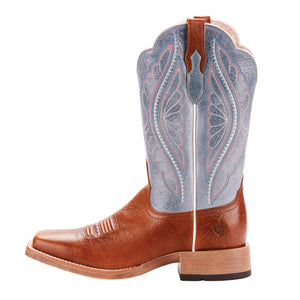 "'Ariat' Women's 12"" Primetime Square Toe - Baby Blue Eyes / Gingersnap"