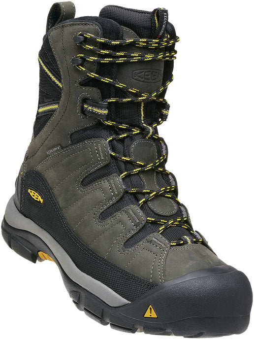'Keen' Men's Summit County 400GR WP - Dark Shadow Grey / Yellow