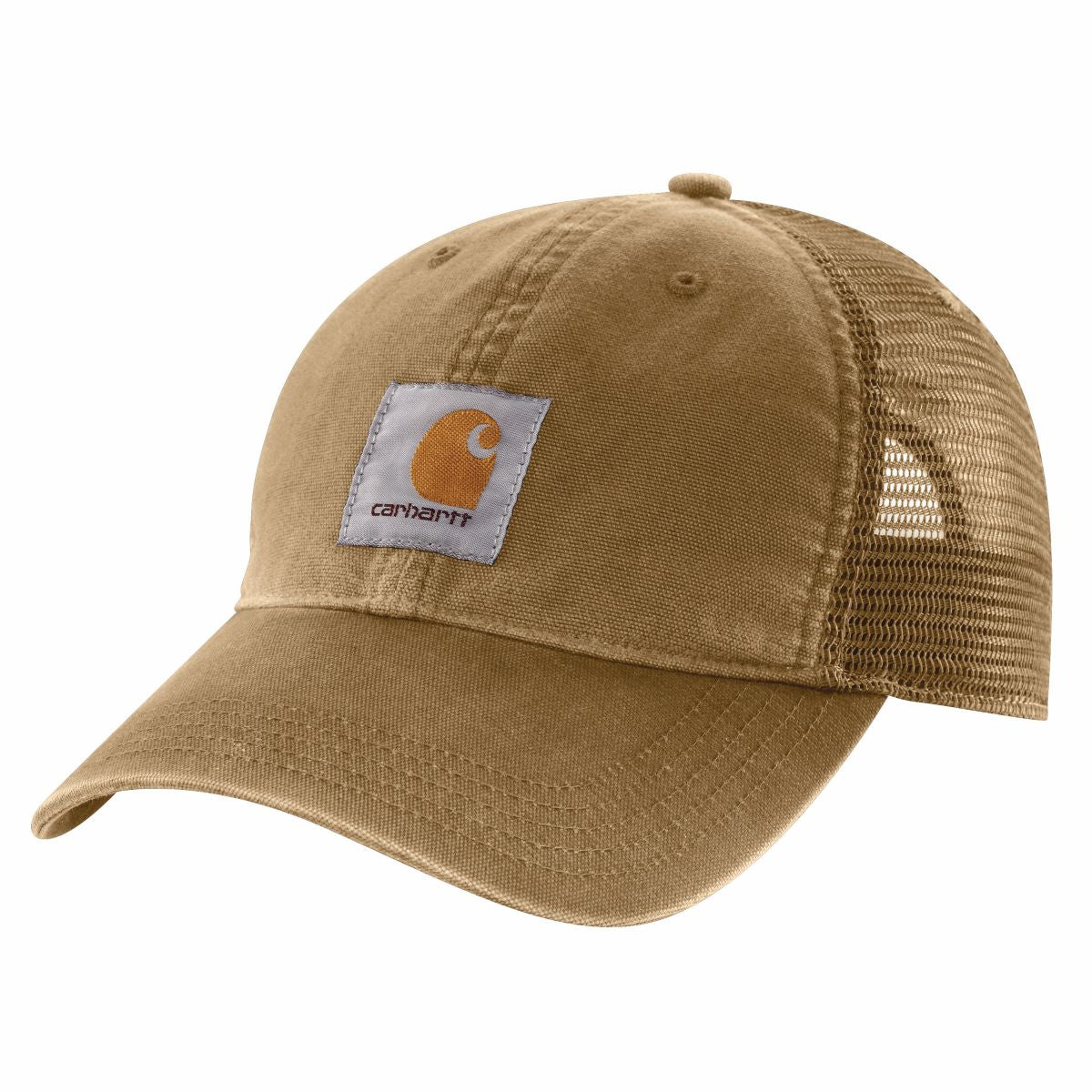 'Carhartt' Unisex Mesh Back Adjustable Cap - Dark Khaki