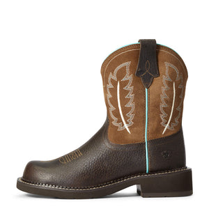 "'Ariat' Women's 8"" Fatbaby Feather II Western Round Toe - Dark Cottage"