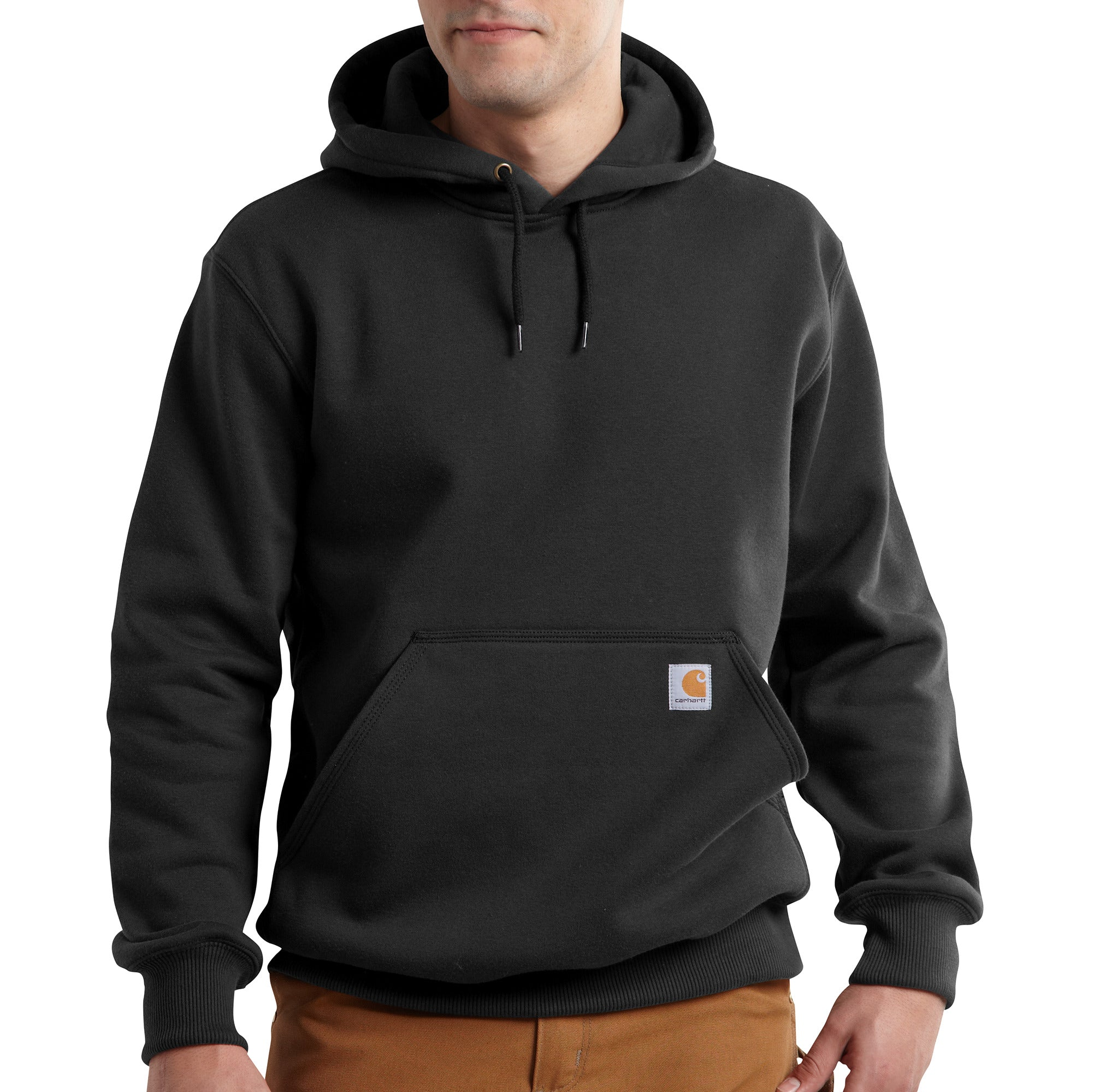 'Carhartt' Men's Rain Defender Paxton Heavyweight Hoodie - Black
