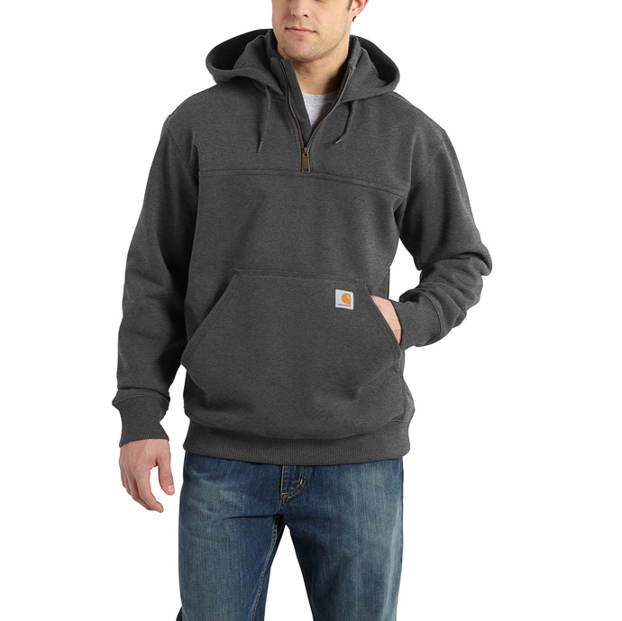 'Carhartt' Men's Rain Defender Paxton Heavyweight 1/4 Zip Hoodie - Carbon Heather