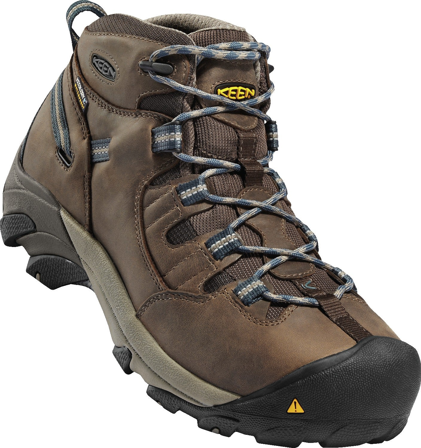 'Keen' 1007004 - Detroit Mid Steel Toe Waterproof Hiker - Cascade Brown