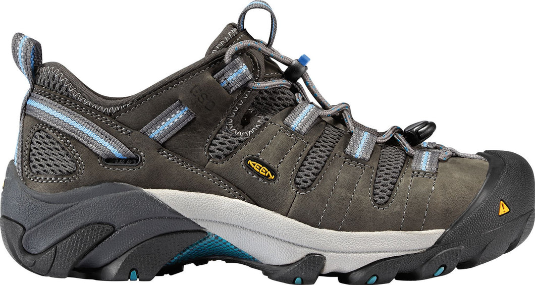 'Keen Utility' Women's Atlanta Cool ESD Steel Toe - Gargoyle Grey / Blue
