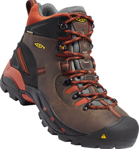 "'KEEN' Pittsburgh 6"" Soft Toe - Brown / Orange"