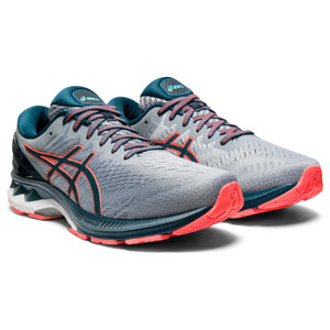 'ASICS' Men's Gel-Kayano 27 - Sheet Rock / Magnetic Blue (Wide)