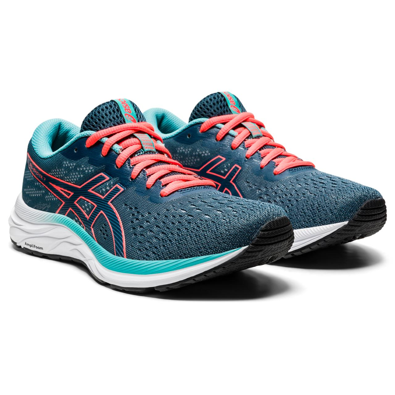 'ASICS' Women's Gel-Excite 7 - Magnetic Blue / Sunrise Red