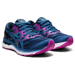 'ASICS' Women's Gel Nimbus 23 - Grand Shark / Digital Aqua