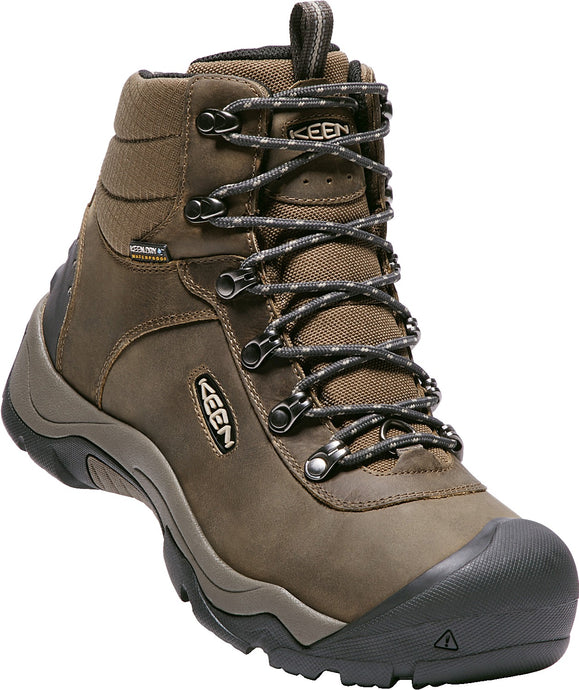 'Keen' Men's Revel III 200GR WP - Great Wall Black / Canteen Brown