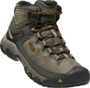 'Keen' Men's Targhee III Mid WP Hiker - Black Olive / Golden Brown
