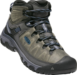 'Keen' Men's Targhee III Mid WP - Steel Grey / Captain's Blue