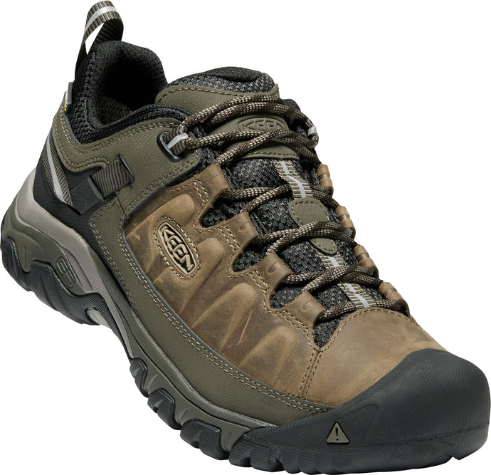 'Keen' Men's Targhee III WP Hiker - Bungee Cord Brown / Olive Green / Black (Wide)