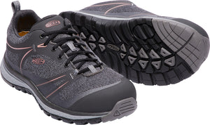 'Keen' Women's Sedona Low EH Aluminum Toe - Raven Grey / Rose Dawn Pink