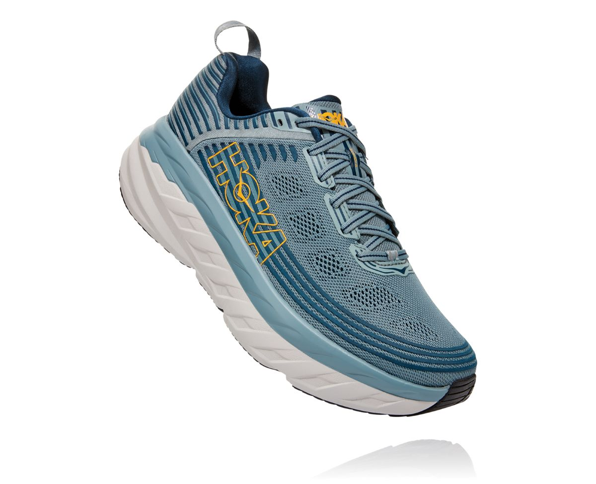 'HOKA' Men's Bondi 6 - Lead / Majolica Blue