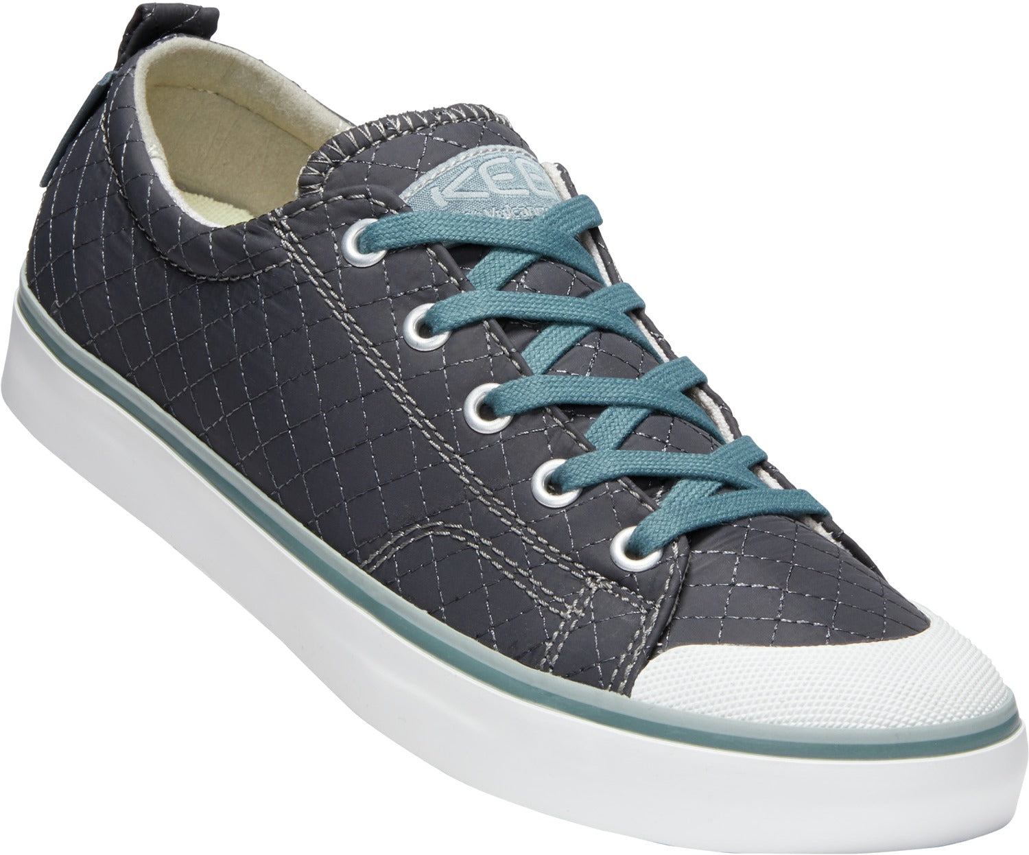 Elsa II Quilted Sneaker - Stormy Weather Blue / Wrought Iron Grey