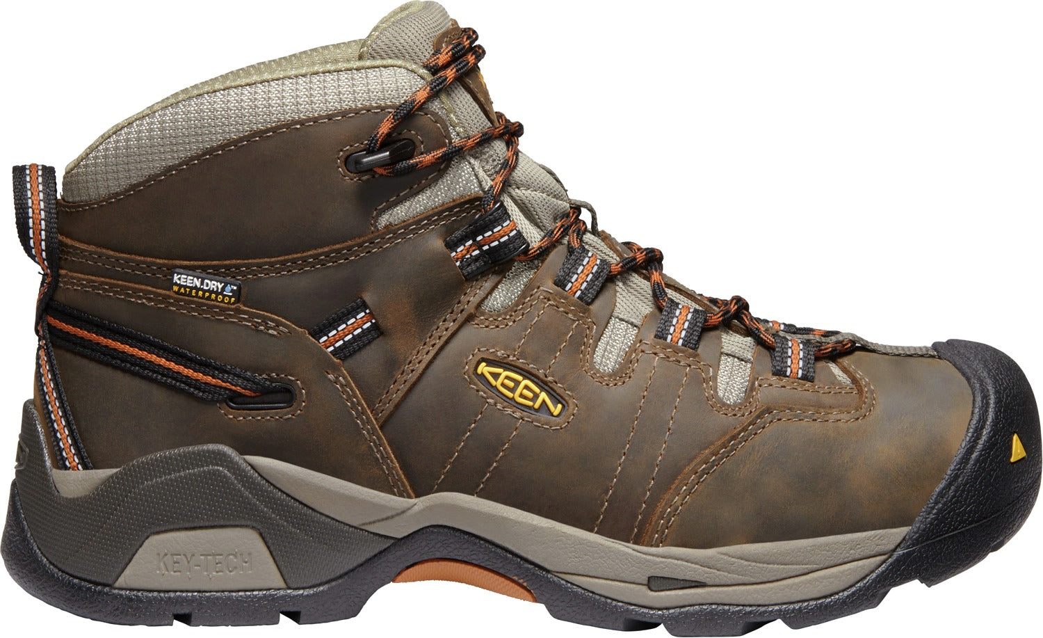 5be3641a1802 Detroit XT Mid Waterproof Soft Toe - Black Olive   Leather Brown ...
