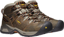 'Keen Utility' Men's Detroit XT Mid WP Soft Toe - Black Olive / Leather Brown