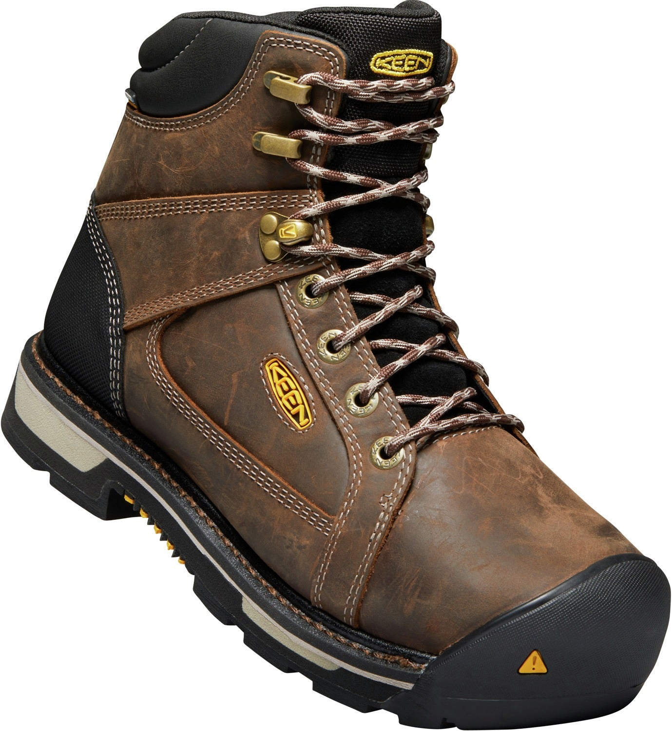 Oakland Waterproof Steel Toe Boot - Chestnut Brown / Black