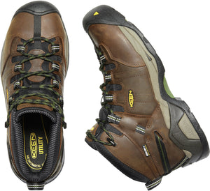 'Keen Utility' Men's Detroit XT Mid Steel Toe Waterproof - Cascade Brown / Bronze Green