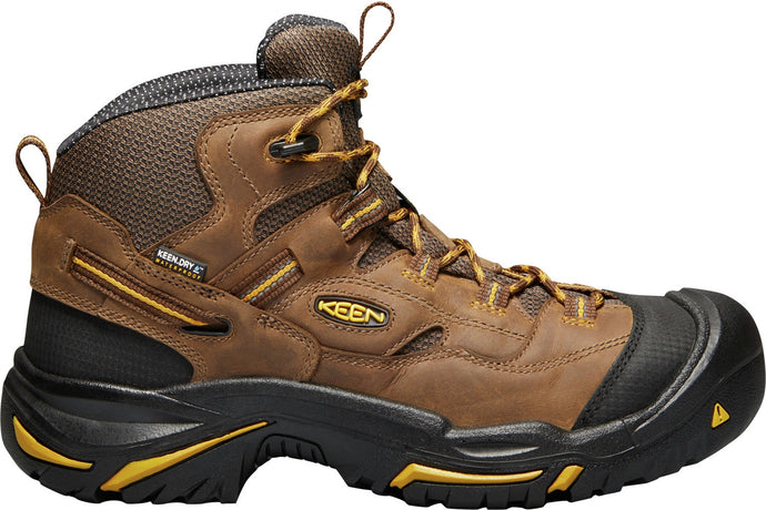 'Keen' Men's Braddock Mid EH WP Soft Toe - Cascade Brown / Yellow / Black