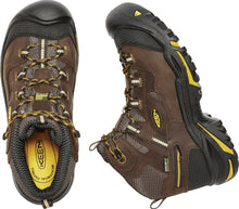 'Keen Utility' Men's Braddock Mid EH WP Soft Toe - Cascade Brown / Yellow / Black