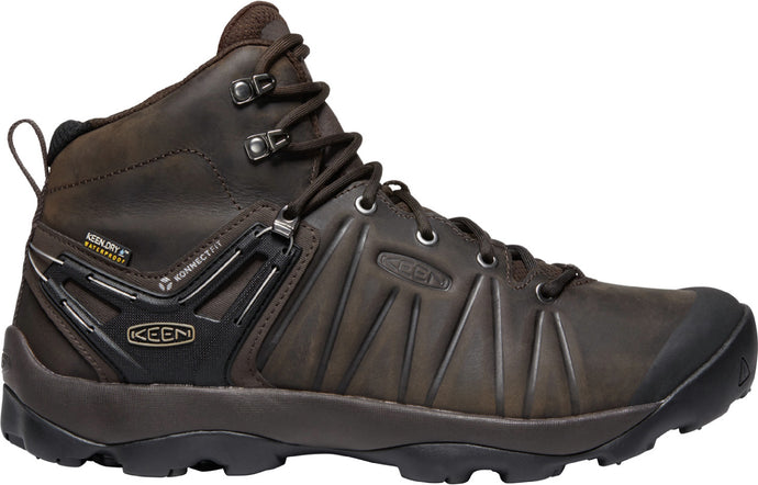 'Keen' Men's Venture Mid Leather WP Hiker - Mulch / Black