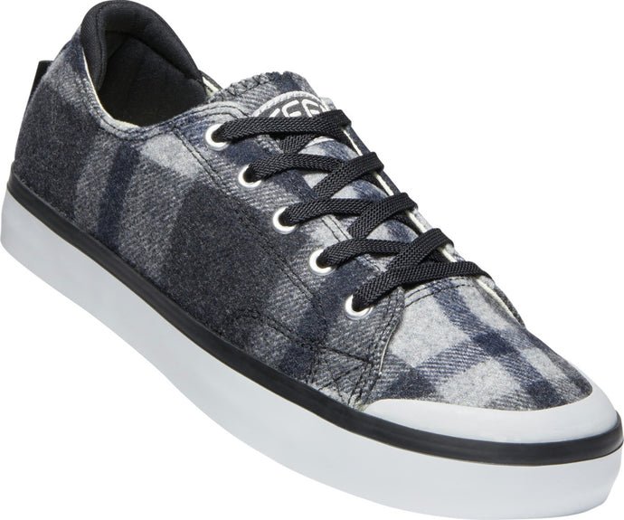 'Keen' Women's Elsa III Plaid Sneaker - Black Plaid / Black