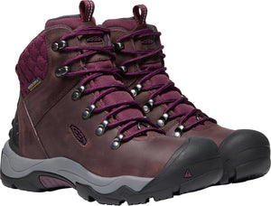 'Keen' 1021981 - Women's Revel III Insulated Hiking Boots - Peppercorn / Eggplant