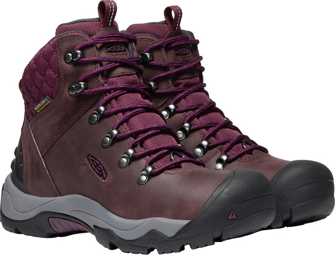 'Keen' Women's Revel III Insulated Hiking Boot - Peppercorn / Eggplant