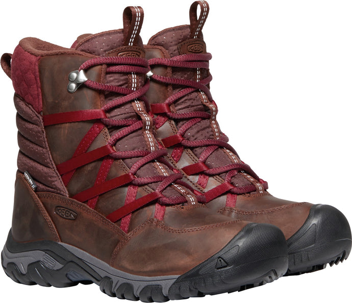 'Keen' Women's Hoodoo III Lace-Up Winter Boot - Tortoise Shell / Merlot
