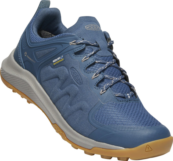'Keen' Women's Explore WP Hiker/Sneaker - Blue / Satellite