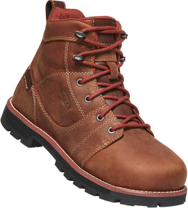 "'Keen' Women's 6"" Seattle WP Safety Toe - Gingerbread / Black"