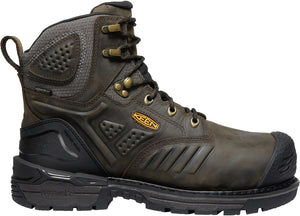 "'Keen' Men's 6"" Philadelphia Int. Met WP Safety Toe - Cascade Brown / Black"