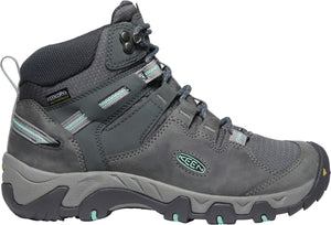 'Keen Outdoor' Women's Steens Mid Leather WP Hiker - Steel Grey / Ocean Wave