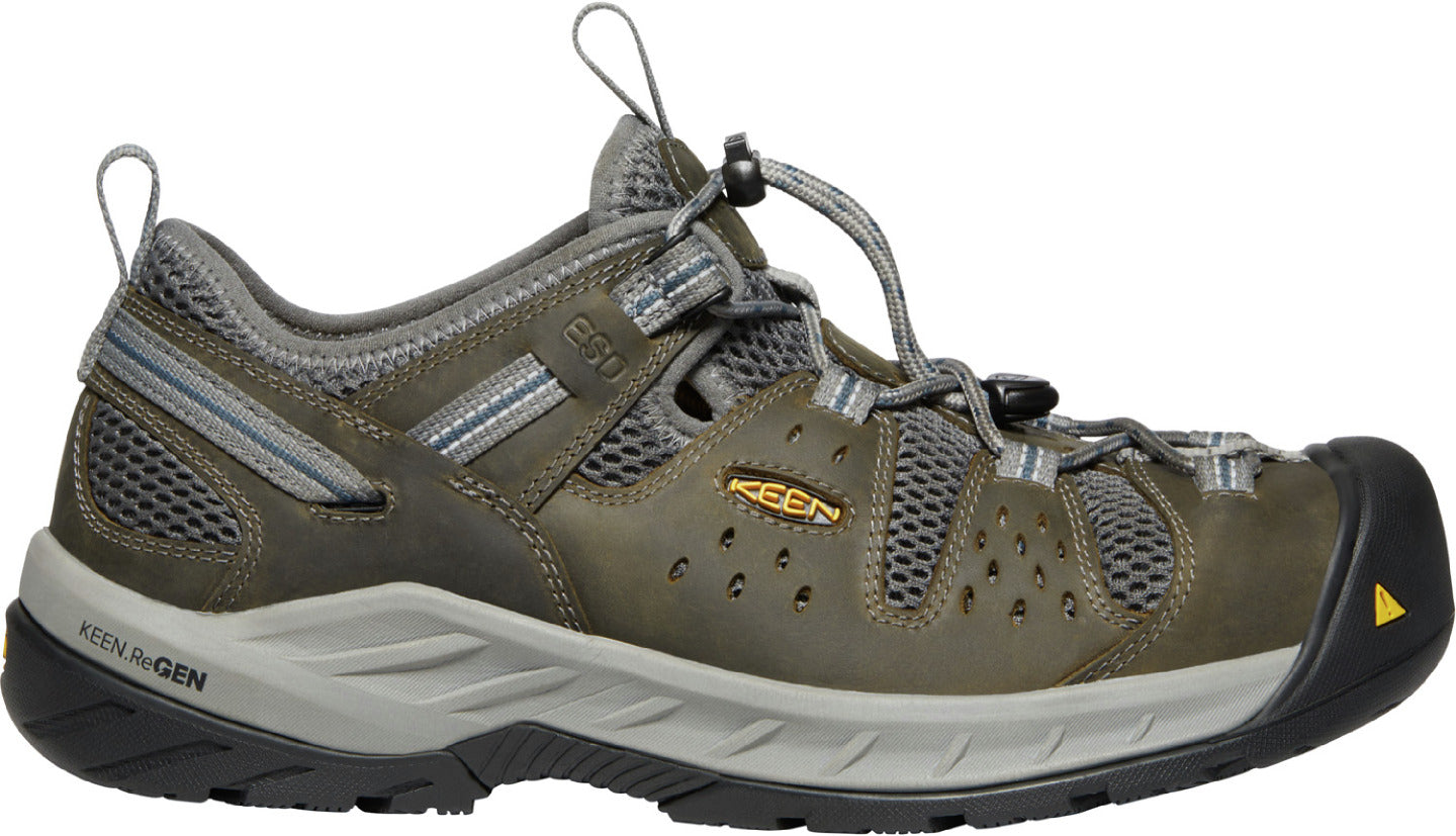 'Keen' Men's Atlanta Cool EH ESD Steel Toe - Gargoyle / Midnight Navy