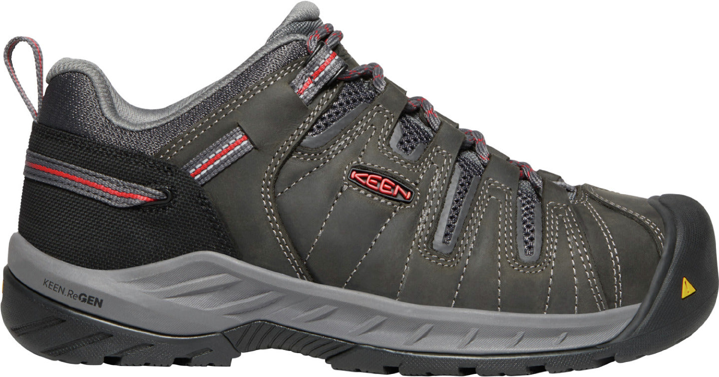 'Keen' Women's Flint II EH Steel Toe - Magnet / Rose