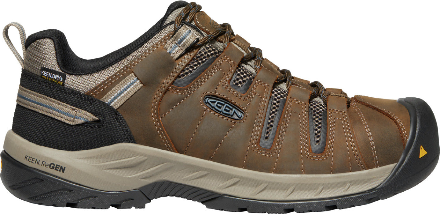 'Keen' Men's Flint II EH WP Steel Toe - Cascade Brown / Orion Blue