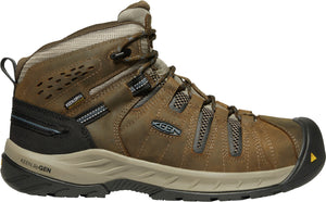 'Keen Utility' Men's Flint II Mid EH WP Steel Toe - Cascade Brown / Orion Blue
