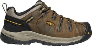 'Keen Utility' Men's Flint II EH Soft Toe - Cascade Brown / Golden Rod