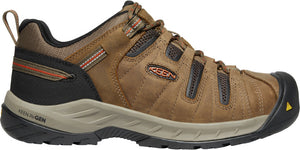 'Keen' Men's Flint II EH Steel Toe - Shitake / Rust